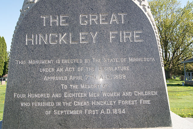 Hinckley Fire Monument south side